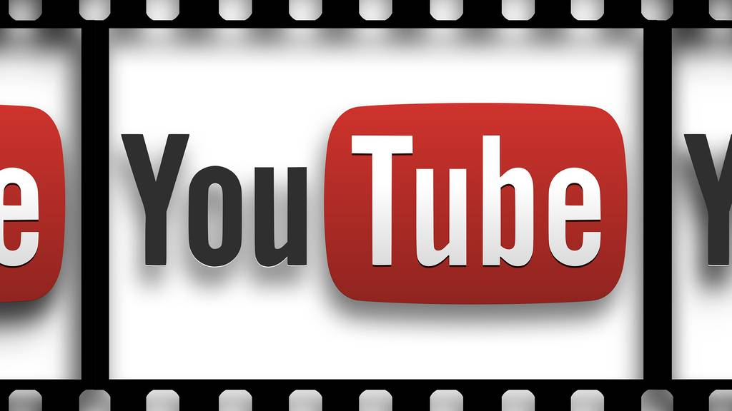 YouTube Logo in Filmstreifen