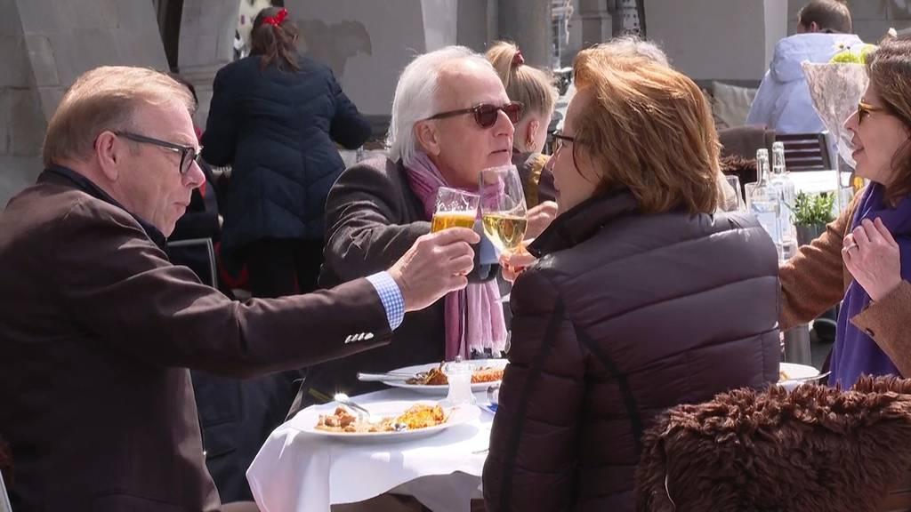 Restaurant-Terrassen ab heute wieder geöffnet