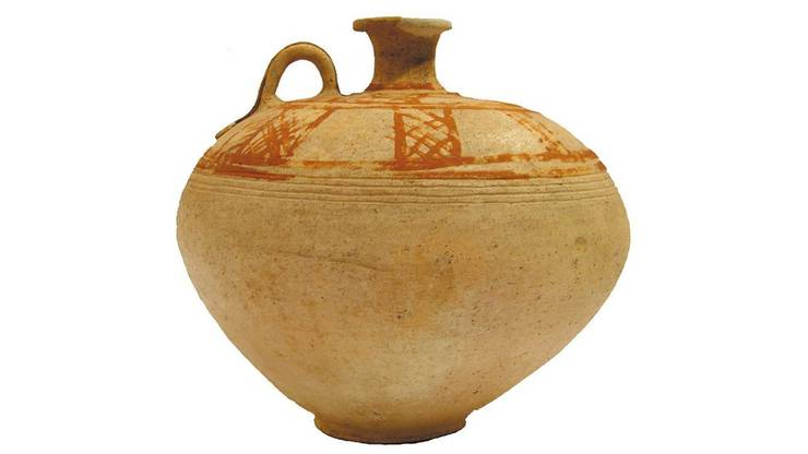 Gefährdete Antike aus Syrien: Keramik- Krug (1800 v. Chr.)