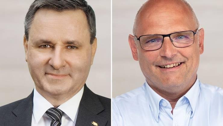 Im Duell? Der Berner Ständerat Werner Salzmann (links) und der Zürcher Nationalrat Alfred Heer.
