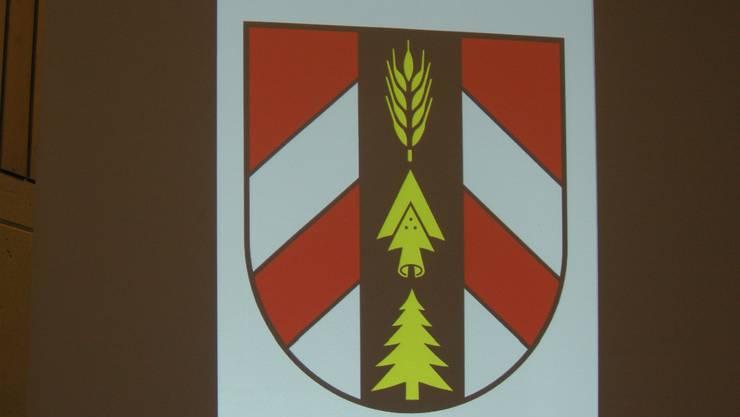 Das neue Wappen der Gemeinde Drei Höfe
