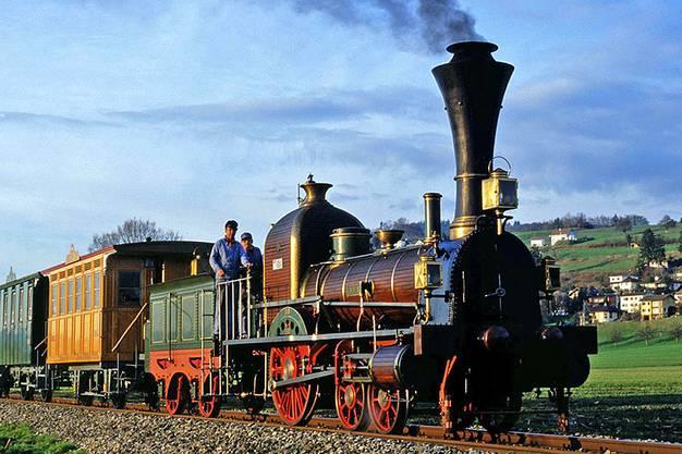 Die «Limmat» war 1847 die erste Dampflok der Schweiz: Von ihr gibt es einen originalgetreuen Nachbau von 1947.