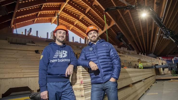 Trainer Christian Wohlwend (l.) und Sportchef Raeto Raffainer haben die Strukturen beim HCD umgebaut.