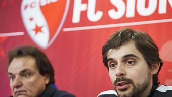 Ihnen glaubt man in Nyon nicht: Sions Präsident Christian Constantin und der neue Trainer Ricardo Dionisio