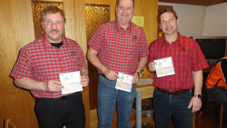 Die Sieger der Vereinsmeisterschaft: Bernhard Wernli, Denis Hornung und Stephan Schönbächler