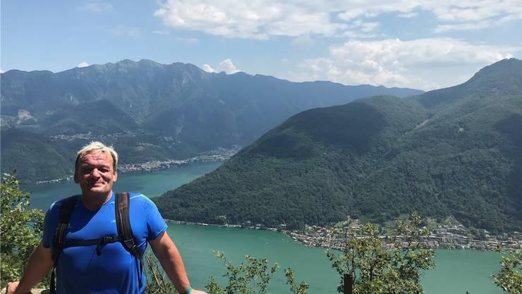 Da er am liebsten alleine wandert, gibt es von Hansruedi Käslin nur wenige Fotos – wie hier auf dem Trans Swiss Trail.zvg