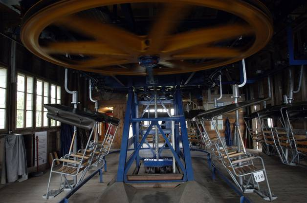 So sahr die Mittelstation Nesselboden der Sesselbahn noch zu Betriebszeiten aus