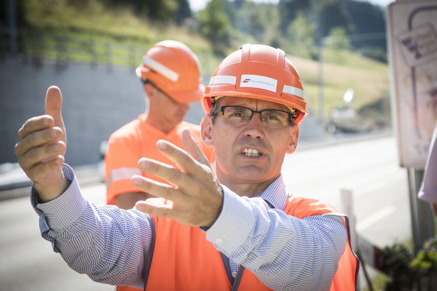 Thomas Baumgartner, Direktor der Appenzeller Bahnen (Bild: Tagblatt/Ralph Ribi)