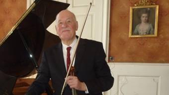 Er überzeugte auch im Konzertsaal: Violinist Hansheinz Schneeberger.