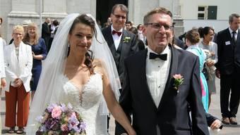 Das frischverheiratete Paar