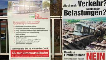 Abstimmungskampf Limmattalbahn