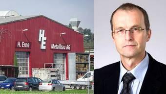 Erne Metallbau und ihr VR-Präsident Werner Marti