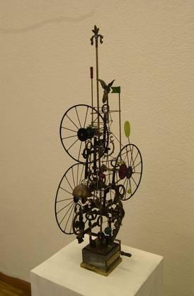 Ein Werk von Gugelmann 2003 in einer Ausstellung im Palais Besenval.
