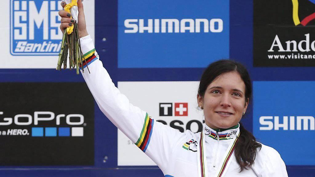 Ramona Forchini als frischgebackene U23-Weltmeisterin