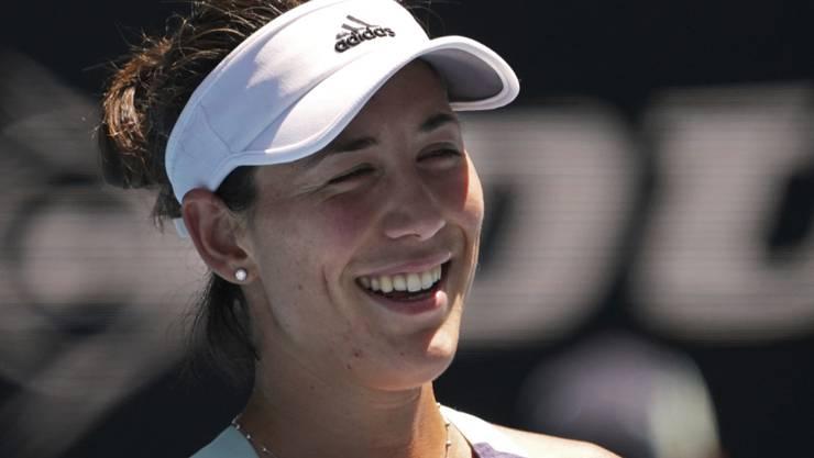 Garbiñe Muguruza steht erstmals am Australian Open in Melbourne in den Halbfinals
