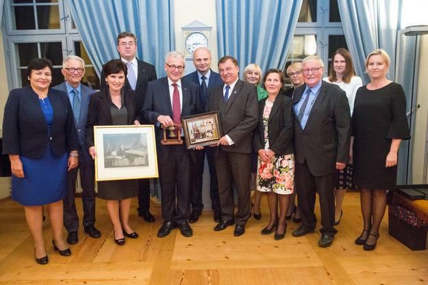Sie alle - und viele andere- feierten die Städtepartnerschaft Solothurn-Krakau