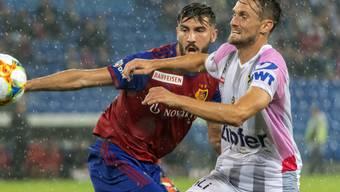 Kemal Ademi (links, hier im Match gegen Linz) erzielte Basels 2:1 gegen Servette