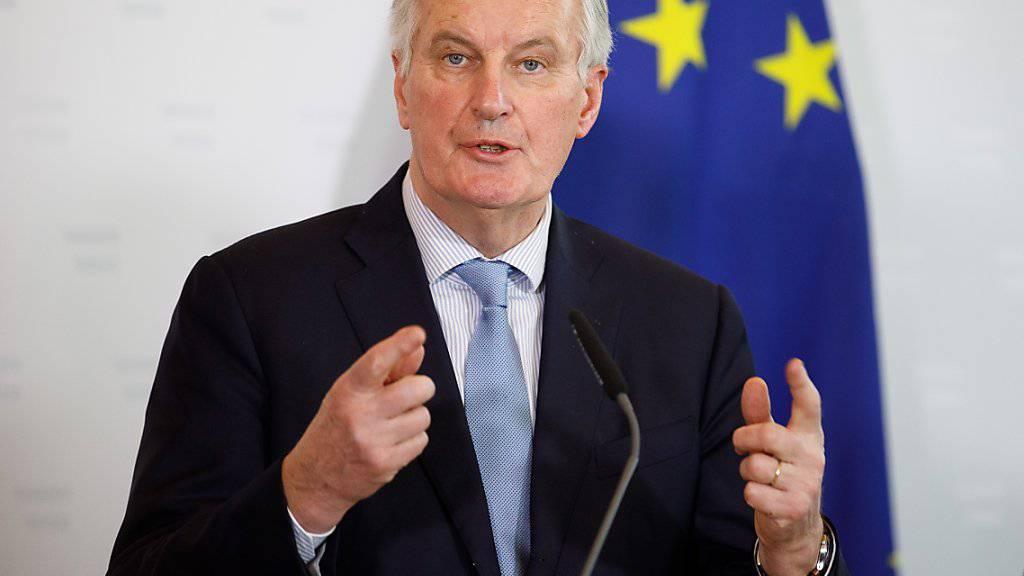 """""""Wir sind bereit, weitere Garantien, Versicherungen und Klarstellungen zu geben"""": EU-Chefunterhändler Michel Barnier zum Brexit-Streit über die Grenze bei Irland."""