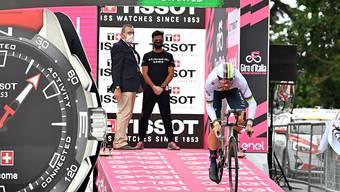 Der Italiener gewann im Trikot des Zeitfahr-Weltmeisters das 15 km lange Einzelzeitfahren auf Sizilien