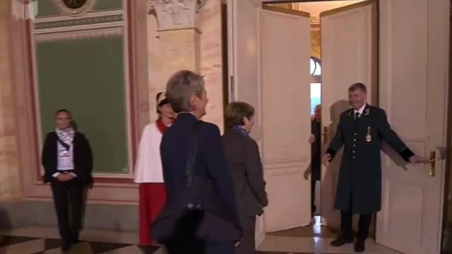 Begrüssung der beiden gewählten Bundesrätinnen