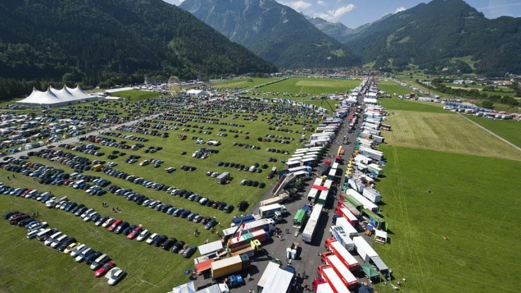 Blick aufs Festivalgelände in Interlaken. Die Aufnahme stammt aus dem Jahr 2010.