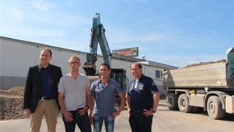 Von Links: Christian Villiger (GoEasy), Michael Back und Renato Rigo (Sportzentrum Leuggern) sowie Beat Anliker (GoEasy).