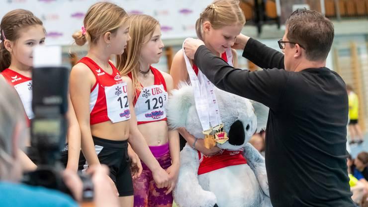 Die Mädchen des TV Zofingen holten den Gesamtsieg in der Kategorie U10 Girls.