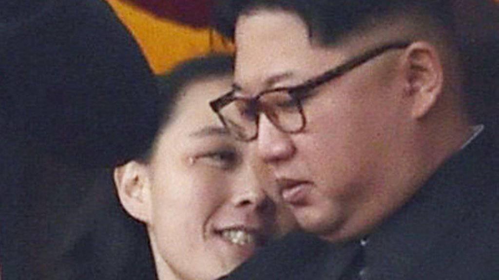 Nordkoreas Führung um den Machthaber Kim Yong Un und seiner Schwester Kim Yo Jong planen keine Gespräche mit den USA während den Olympischen Winterspielen in Südkorea. (Archivbild)