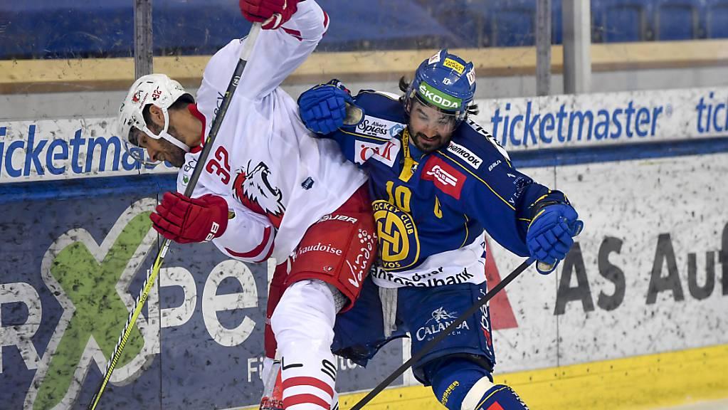 Der HC Davos, hier mit Captain und Vorkämpfer Andres Ambühl, meldet sich im Rennen um einen direkten Playoff-Platz zurück