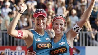 Amtierende Schweizermeisterinnen: Tanja Hüberli/Tanja Goricanec