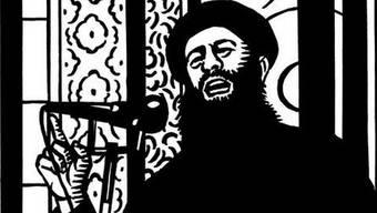 Die Karrikatur von «Charlie Hebdo» zeigt Abu Bakr al-Baghdadi, Anführer der dschihadistisch-salafistischen Terrororganisation Islamischer Staat.