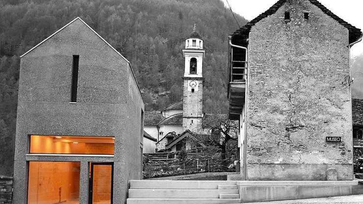 Moderne Front in altem Ambiente: Der Erweiterungsbau des Museo di Val Verzasca wird am Samstag eingeweiht.