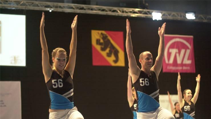 Schweizermeister STV Lenzburg bei seinem Auftritt in Bern vor einem Jahr.