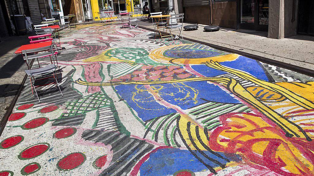 In New York ist ein ungewöhnliches Kunstobjekt auf einer Strasse in Chinatown entstanden. (Archivbild)