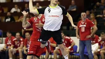 Der Schweizer Nationalspieler Marvin Lier war mit 12 Toren der Matchwinner beim 33:24-Sieg von Pfadi Winterthur im EHF-Cup