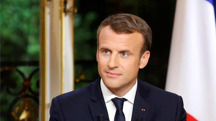 Legt sich weiter mit den Gewerkschaften an: Emmanuel Macron. Francois Mori/AP/Key