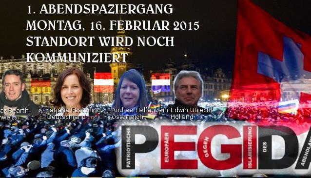 So wirbt Pegida Schweiz für ihren «Abendspaziergang»