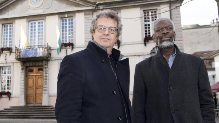 Den Stadträten Jérôme Christen (l.) und Michel Agnant (r.) wird vorgeworfen, der Geschäftsprüfungskommission interne vertrauliche Dokumente zugespielt zu haben. (Archivbild)