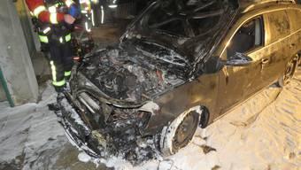 Auto brennt in Unterkulm