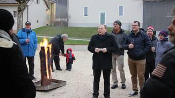 Villigen Neujahrsapero Gemeindeammann René Probst bei seiner Ansprache