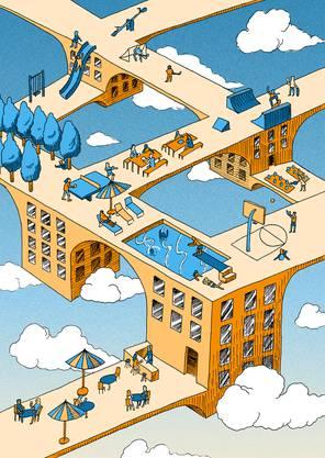 Thierry Bongard von der Hochschule der Künste Bern entwarf vier Karten zu den Grenchner Wohntagen