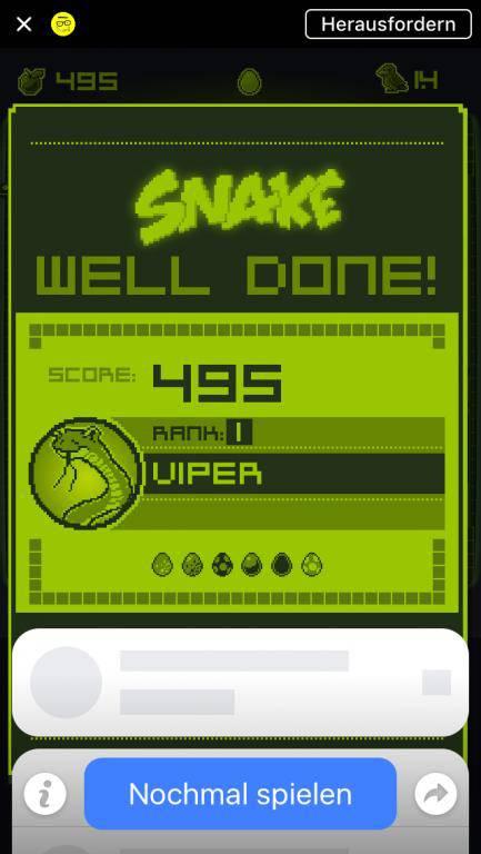 Die Darstellung ähnelt dem alten Snake aber sehr.