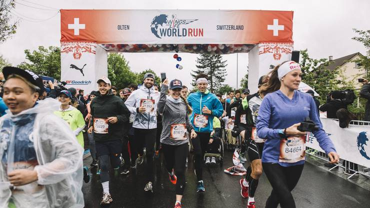 Start des Wings for Life World Run Anfang Mai in diesem Jahr: Vorerst zum letzten Mal in Olten, wie sich nun herausstellt.