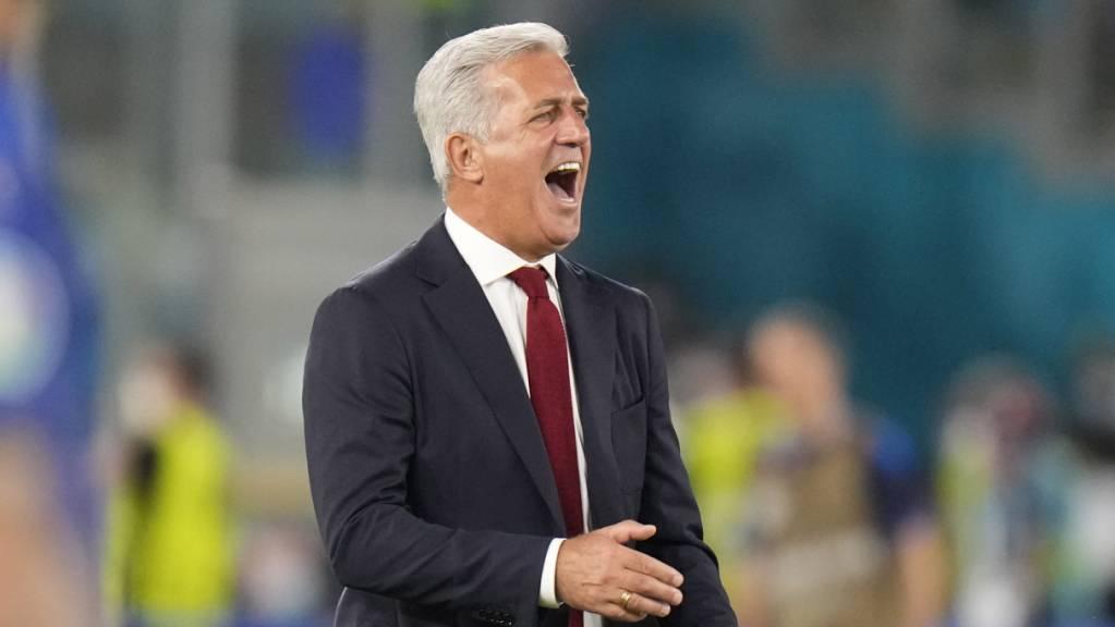 Vladimir Petkovic musste gegen Italien an der Seitenlinie leiden