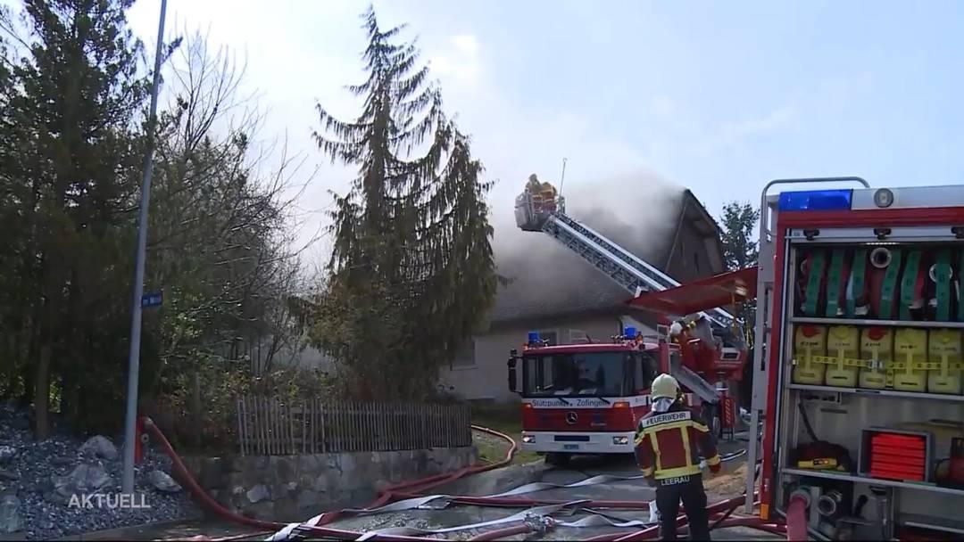 Moosleerau: Beträchtlicher Schaden nach Brand