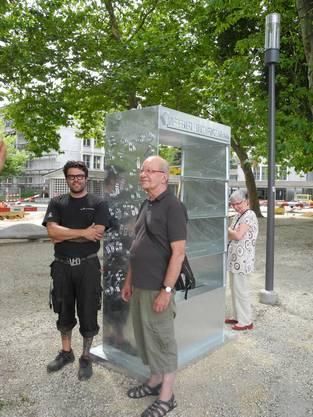 Künstler Toni Kaufmann und Realisator Hartwig Roth