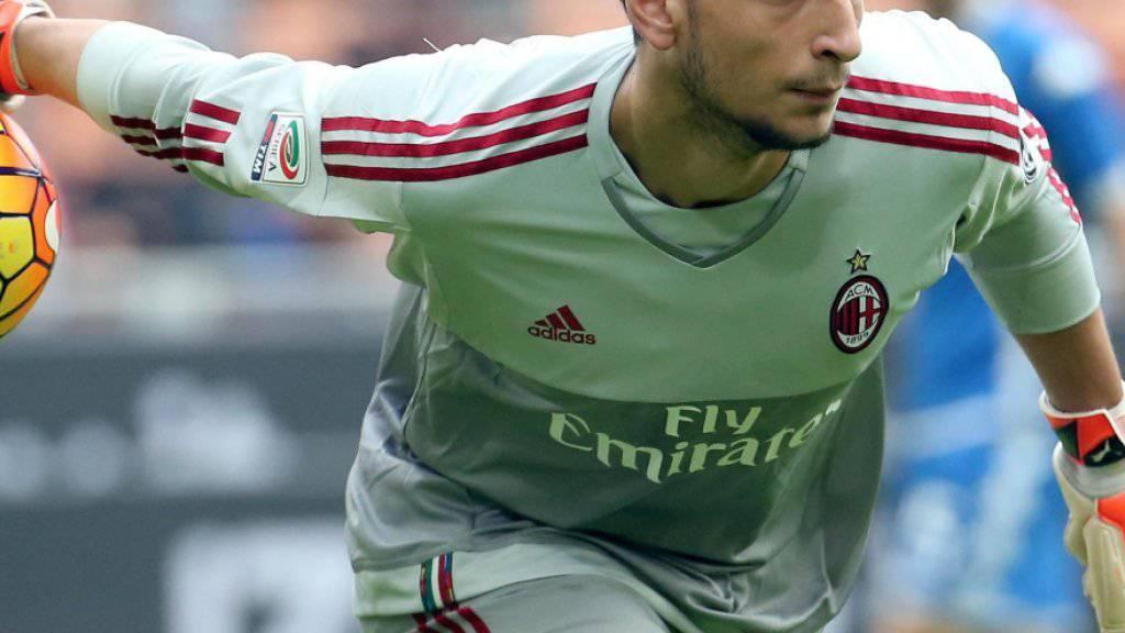 Doch eine Zukunft bei Milan? Italiens Goalietalent Gianluigi Donnarumma