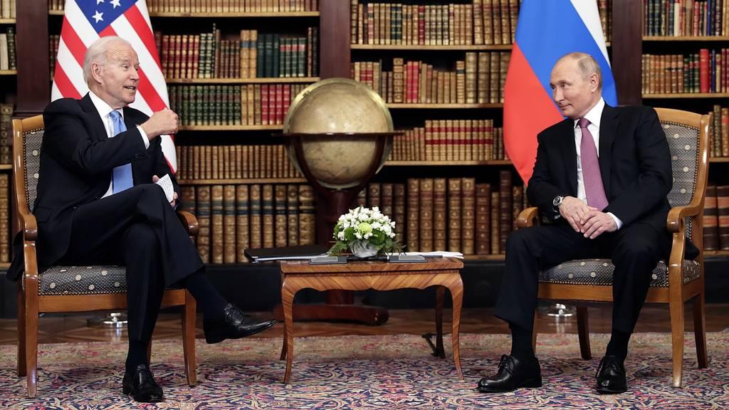 Erste Gesprächsrunde zwischen Biden und Putin beendet