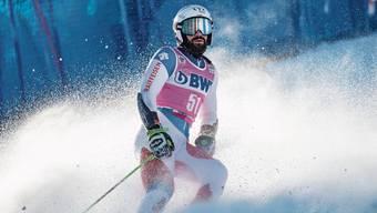 Daniele Sette (27) nach seiner Zieldurchfahrt in Adelboden.