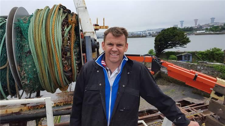 Andy «Giler» Giles auf seinem Fischtrawler in Cremyll:Er stimmt heute für den Brexit.